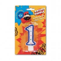 Fun® Birthday Candle - Numeral 1 | 1pcx24pkts