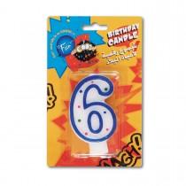Fun® Birthday Candle - Numeral 6 | 1pcx24pkts