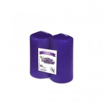 Fun® Scented Tall Pillar Candles 6x12cm - Lavender | 2pcsx6pkts
