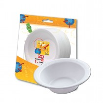 Fun® Foam Bowl 12oz - White | 20pcsx50pkts