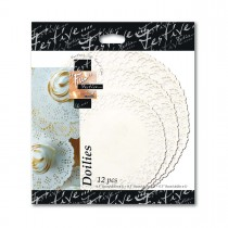 Fun® Round Doilies | ⌀8.5+10.5+12in - White | (3x5pcs)x24pkts