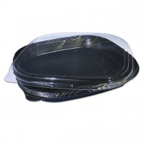 Sushipac Black Sushi Container 320x320x50mm +Lid | 100pcs