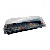 Sushipac Black Sushi Container 219x90x43mm +Lid | 500pcs