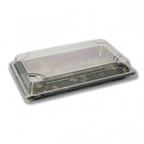 Sushipac Black Sushi Container 216x136x43mm +Lid | 500pcs