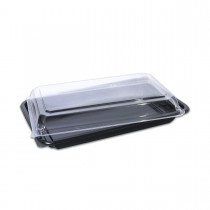 Tuttiblac Black Rectangular Container 251x158x50mm +Lid | 300pcs