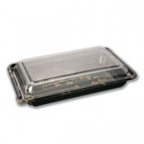 Sushipac Black Sushi Container 251x158x50mm +Lid | 300pcs