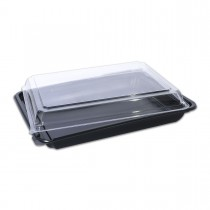 Tuttiblac Black Rectangular Container 265x199x50mm +Lid | 200pcs