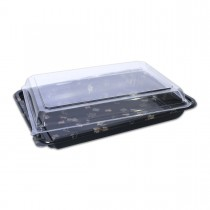 Sushipac Black Sushi Container 265x199x50mm +Lid | 200pcs
