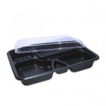 Comboblac 5-Comp.Rectangular M.Wavable Base+Lid 266x208x37mm | 50pcsx6pkts