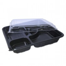 Comboblac 5-Comp.Sq.M.Wavable Base + Lid 270x43mm | 50pcsx4pkts
