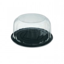 Pastripac ⌀230x110mm Black Base+Clear Dome Lid | 100pcs
