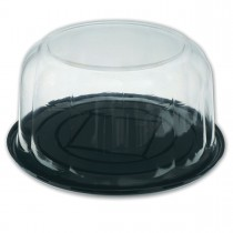 Pastripac ⌀270x110mm Black Base+Clear Dome Lid | 100pcs