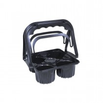 Plastic Takeaway Drinks Carrier - Black | 500pcs