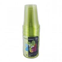 Fun® Clear Plastic Cup 8oz - Olive | 25pcsx20pkts