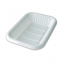 Rectangular Plastic Tray 269x185x30mm - White | 10kgs