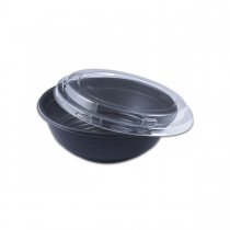 Blacnbol M.Wavable Multi-Purpose Bowl 35oz w/ Lid - Black PP | 300pcs