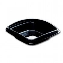 Classipac Black Plastic Square Bowl 06oz w/ Lid | 40pcsx9pkts