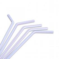 Flexible Straw ⌀6x230mm - White/Striped | 100pcsx100pkts