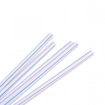 Straight Straw ⌀8x230mm - White/Striped | 10000pcs