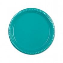 Plastic Plate ⌀22cm - Turquoise | 25pcsx20pkts