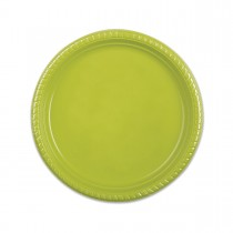 Plastic Plate ⌀22cm - Olive | 25pcsx20pkts