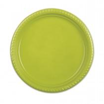 Plastic Plate ⌀25cm - Olive | 10pcsx25pkts