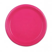 Plastic Plate ⌀25cm - Fuchsia | 10pcsx25pkts
