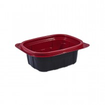 Tutipac Black and Red Hot Multipurpose Containers 12oz PP | 600pcs