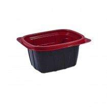 Tutipac Black and Red Hot Multipurpose Containers 16oz PP | 600pcs