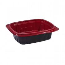 Tutipac Black and Red Hot Multipurpose Containers 24oz PP | 300pcs