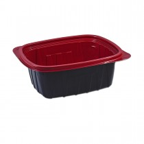 Tutipac Black and Red Hot Multipurpose Containers 32oz PP | 300pcs