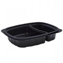 Tutipac 2-Comp Black Hot Multipurpose Containers PP | 250pcs
