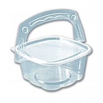 Handipac Basket-Like Clear Container w/ Lid 32oz | 300pcs