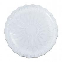 Cristalpac Crystal-Like Plastic Platter ⌀36x2.5cm - PS | 10kgs