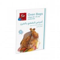Fun® Plastic Oven Bags 45x55cm w/ Tie Wire - Jumbo   4pcsx24pkts