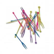 2-Prong Plastic Picks 7.8cm - Assorted Colours   500pcsx2pkts