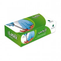 Disposable Latex Gloves - Large/Blue | 100pcsx10pkts