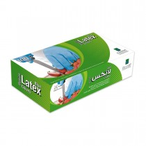 Disposable Latex Gloves - Medium/Blue | 100pcsx10pkts