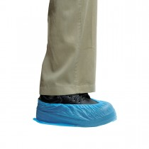 CPE Shoe Cover 14in - Blue/Embossed | 100pcsx20bgs