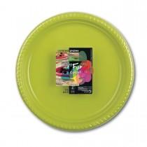 Fun® Plastic Plate ⌀25cm - Olive | 10pcsx25pkts