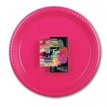 Fun® Plastic Plate ⌀25cm - Fuchsia | 10pcsx25pkts