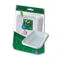 Fun® Rectangular Plastic Tray No.3 - White | 1Kgx10pkts