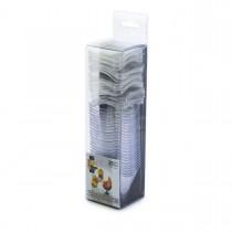 Fun® Verrine Crystal Mini Square Cup 57ml w/ Lid | 25pcsx24pkts