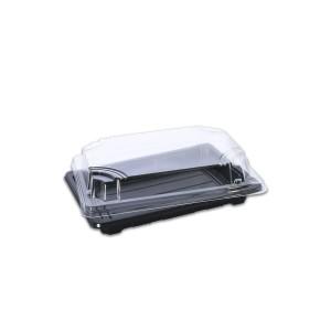 Tuttiblac Black Rectangular Container 185x128x43mm +Lid | 500pcs
